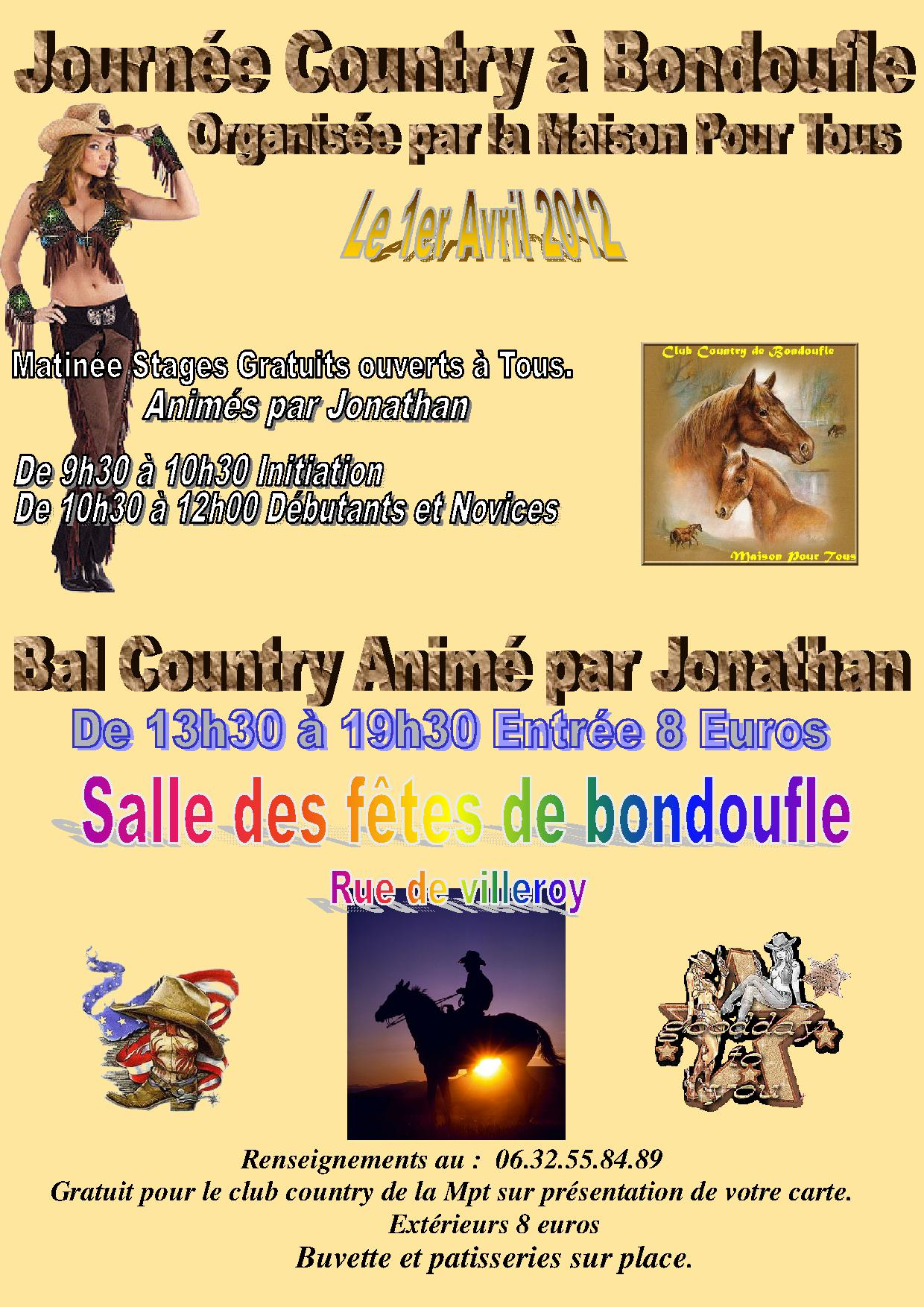 stage et bal country